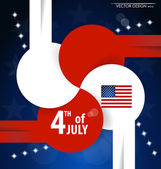4th of July independence day. Vector background design. — Stock Vector