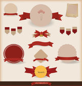 Set of vector vintage and retro design elements. Vector illustra — Stock Vector