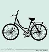 Vintage Retro Bicycle Background. Vector illustration. — Vector de stock