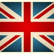 Vector de stock : Vintage British Flag. Vector illustration.