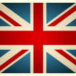 Stok Vektör: Vintage British Flag. Vector illustration.
