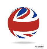 British Flag. Vector illustration. — Stock Vector