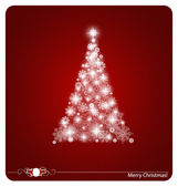 Christmas background with Christmas tree, vector illustration. — Stock Vector