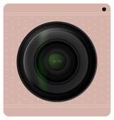 Obturador da lente de câmera, ícone da câmera. ilustração vetorial. — Vetor de Stock