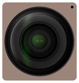 Camera lens shutter, Camera icon. Vector illustration. — Stock Vector