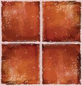Brown ceramic floor. Vector illustration. Brown ceramic wall sea — Stock Vector