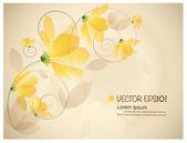 复古花卉背景。矢量插画. — 图库矢量图片