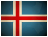 Vintage Iceland Flag. Vector illustration. — Stock Vector