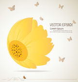 Vintage floral background - Daisies. Vector illustration. — Stock Vector