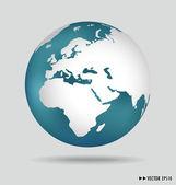 现代地球。矢量插画. — 图库矢量图片