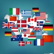 World flags. Vector illustration. — Stock Vector