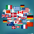 World flags. Vector illustration. — Stock Vector #30392497