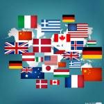 World flags. Vector illustration. — Stock Vector
