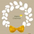 Merry Christmas Greeting Card, vector illustration. — Stock Vector #30393511