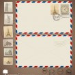 Vintage envelope designs and stamps. Vector illustration. — Stock Vector