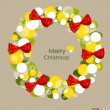 Merry Christmas Greeting Card, vector illustration. — Stock Vector #30394651