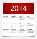 Simple 2014 year calendar, vector illustration. — Stock Vector
