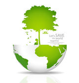 Save the world. Vector illustration — Stock Vector