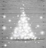 Vánoční strom na pozadí. vektorové ilustrace. — Stock vektor