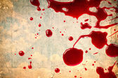 Blood on vintage paper — Stock Photo