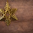 Christmas Decoration Over Wooden Background — Foto de Stock