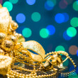 Christmas decoration and Beautiful Bokeh — Stock Photo