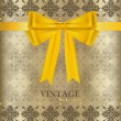 Stock Vector: Vintage background with golden ribbon. Vector illustration.