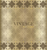 Vintage background with golden vintage label. Vector illustratio — Stockvektor