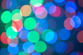 Defocused ligths of Christmas — Stock Photo