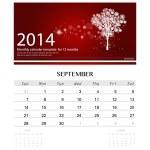 ������, ������: 2014 calendar monthly calendar template for September Christma