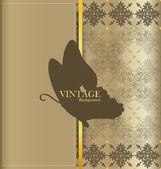 Vintage card with vintage background. Vector illustration. — Stock Vector