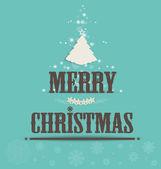 Merry christmas gratulationskort, vektor illustration. — Stockvektor