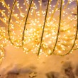 Bokeh defocused gold abstract christmas background — Stock Photo