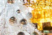 Christmas tree with decoration — Stock Photo