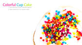 Colorful Cup Cake — Stock Photo