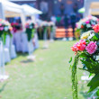 Wedding ceremony in a beautiful garden — Stock Photo