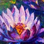 Oil painting of beautiful lotus flower — Foto Stock