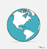 Modern globe drawing concept. Vector illustration. — Stock Vector