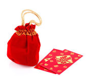 Chinese New Year Gift Bag and decoration on White Background — Stock Photo