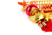 Chinese new year decoration on white background — Stock Photo
