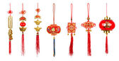 Chinese new year decoration on white background — Stock Photo