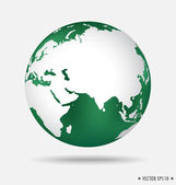 Modern globe. Vector illustration. — Stock Vector