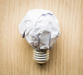 Crumpled paper Light bulb  — Stock Photo