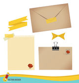 Collection of various papers, ready for your message. Vector ill — 图库矢量图片