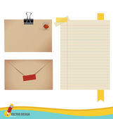 Collection of various papers, ready for your message. Vector ill — Stock Vector