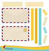 Collection of various papers, ready for your message. Vector ill — Vettoriale Stock