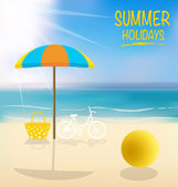 Summer holiday background. Vector illustration. — Stock Vector