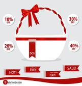 Sale Tags Design. Vector illustration. — Stock Vector