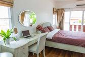 Modern bed room interior — Stock Photo