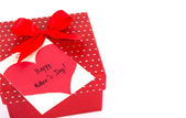 Red Mother's Day gift box — Stock Photo